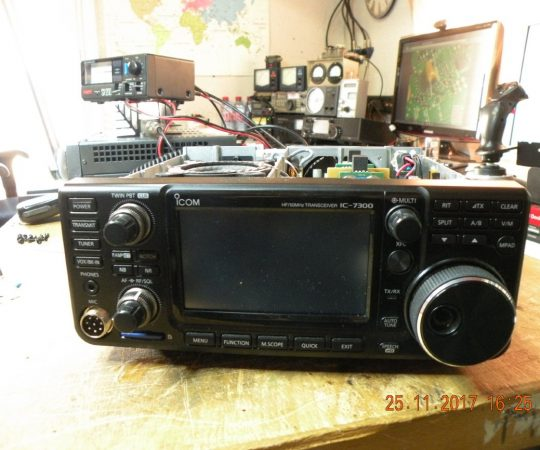 Modification ICOM IC-7300 de Michel SWL